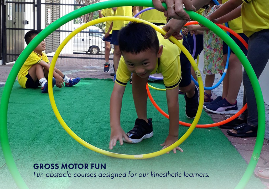Gross Motor Fun - Fun obstacle courses designed for our kinesthetics learners.